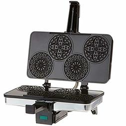 CucinaPro Mini Italian Pizzelle Waffle Maker Iron - Makes Fo