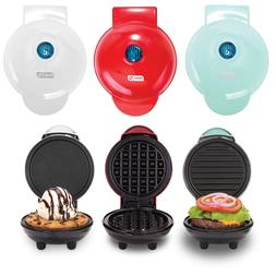 Dash Mini Maker 3-Piece Griddle, Waffle, and Grill Set in Re