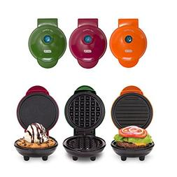 Dash MINI Maker 3-Piece Griddle, Waffle, and Grill Set in Ha