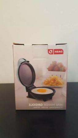 Dash Mini Maker Portable Griddle, Burger, Panini Press - Aqu