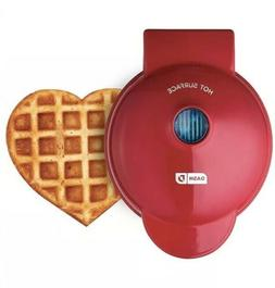 Dash Mini Maker: The Mini Waffle Maker, Heart Shaped Red