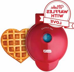 Dash Mini Maker-Waffle, Red Heart