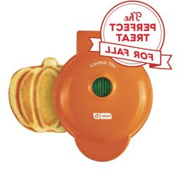 "DASH Mini Pumpkin 4"" Waffle Maker Orange Pumpkin"