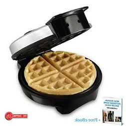 Mini Round Waffle Maker,Belgian, No-Stick, Cool Touch Handle