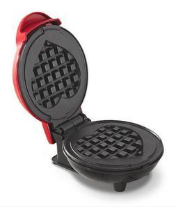 Mini Waffle Machine Maker,Red Heart,Kitchen Appliances