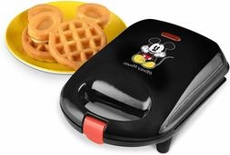 mini waffle maker mickey mouse shaped black
