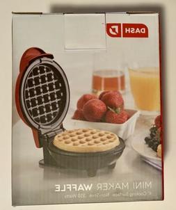 DASH Mini Waffle Maker NEW IN BOX Red 4 Inch Non-Stick Surfa