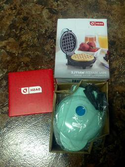 "Dash Mini Waffle Maker/Press 4"" Nonstick NEW IN BOX! Pretty"