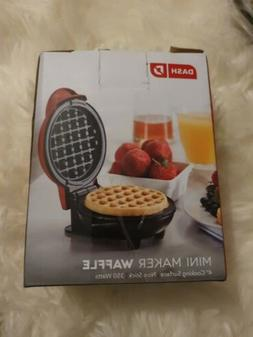 "Mini Waffle Maker Pumpkin DASH  Brand,Orange Color 4"" Cookin"