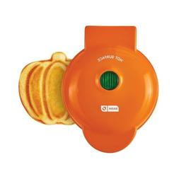 "DASH Mini Waffle Maker Pumpkin,Orange Color 4"" Cooking Surfa"