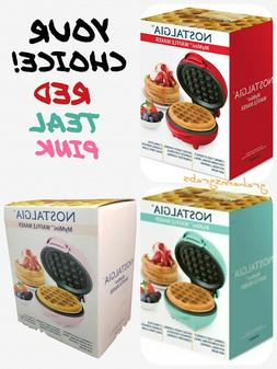 NOSTALGIA MY MINI PERSONAL WAFFLE MAKER COLOR CHOICE HOME OF