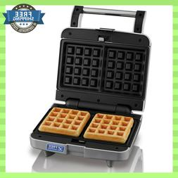 NEW Belgian Waffle Maker Nonstick Removable Plate 2 Slice Si