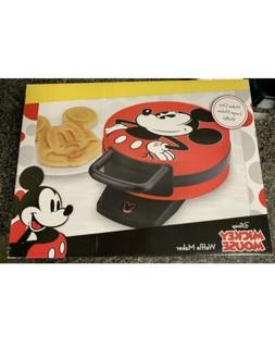 New Disney DCM-12 Mickey Mouse Waffle Maker, Red Bake Nonsti