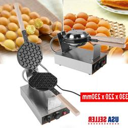 NEW Electric Bubble Egg Cake Maker Oven Non Stick Waffle Bak