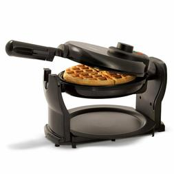NEW BELLA Flip and Rotating Belgian Waffle Maker Round Polis