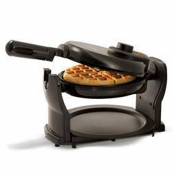NEW BELLA Flip and Rotating Belgian Waffle Maker Round Polis