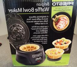 NEW IN UNOPENED BOX PRESTO BELGIAN BOWL WAFFLE MAKER BLACK 0
