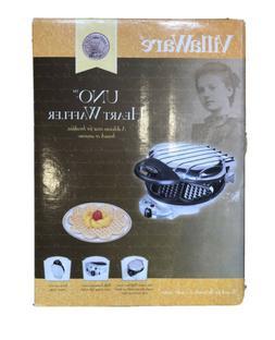 New VillaWare V2003 UNO Petite Heart Waffler