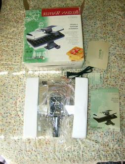 NEW Vintage VILLAWARE BELGIAN WAFFLER Model 3300 WAFFLE MAKE