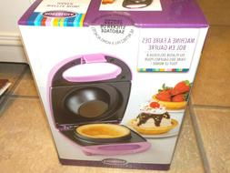 NEW WAFFLE BOWL MAKER SMALL APPLIANCE BY NOSTALGIA SEALED PE