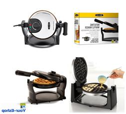 Belgian Waffle Maker Non Stick Rotating Flip Electric Round