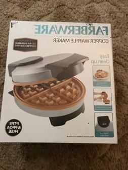 Farberware Non-Stick Copper Waffle Maker Iron Griddle Breakf