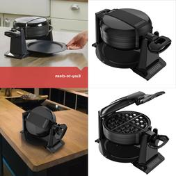 Non-Stick Double Belgian Rotating Waffle Maker Commercial Ir