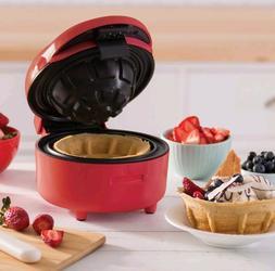 Dash Nonstick Waffle Bowl Maker Red