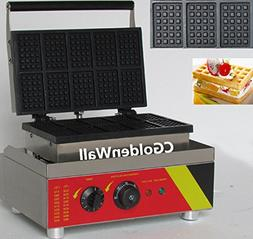 CGOLDENWALL NP-533 10pcs Commercial Waffle Maker Electric Wa