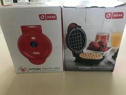 ONE DASH Mini Waffle Maker, Red, NEW IN BOX!