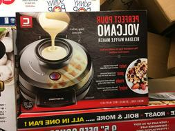 CHEFMAN Perfect Pour Volcano Belgian Waffle Maker - New in B
