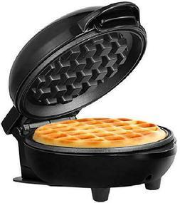 "Personal Non-Stick Waffle Maker, 4"", Black Compact and porta"
