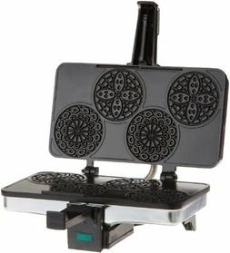 Piccolo Pizzelle Baker by Cucina Pro - 100% Non Stick