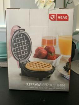 """Dash Pink Mini Maker Waffle 4"""" Cooking Surface Non Stick 3"""