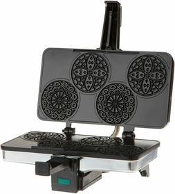 Pizzelle Waffle Maker Italian Iron Style Non-Stick Interior