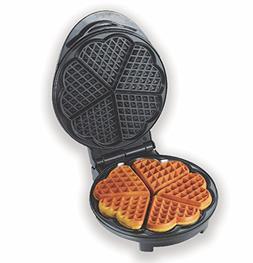 Eco+Chef Portable Heart Shaped Non-Stick Belgian Waffle Make