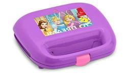 Disney Princess Waffle Maker Purple Non Stick 4 Inch Cooking