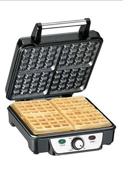 Professional CHEFMAN 4-slice Stainless Steel waffle maker Ir