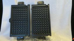 replacement grill grb5750s waffle maker plates set