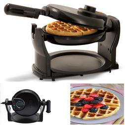 Rotating Belgian Waffle Maker Classic Non-Stick Round Waffle