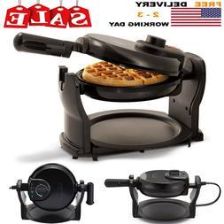 rotating belgian waffle maker classic non stick