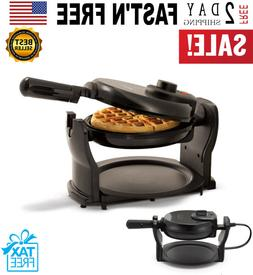 rotating belgian waffle maker commercial non stick