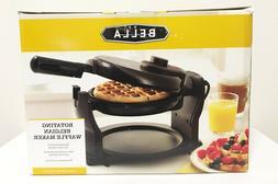 Bella Rotating Belgian Waffle Maker NON STICK Black Model 13