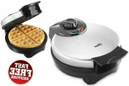 Round Belgian Waffle Maker Iron Non Stick Baking Pan Electri