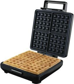 Round Belgian Waffle Maker Machine 4 Slice Classic Non Stick