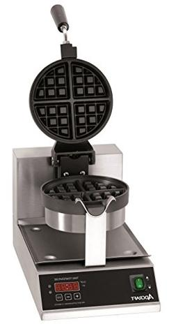 "AdCraft 7"" Round Belgian Waffle Maker"