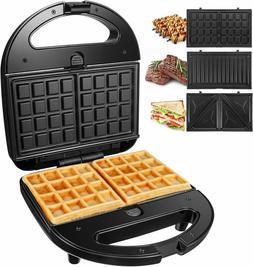 OSTBA Sandwich Maker 3-in-1 Waffle Iron, 750W Panini Press G