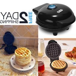Small Waffle Maker Single Round Mini Belgian Panini Miniatur