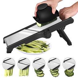 CaCaCook Stainless Steel Mandoline Slicer Adjustable Kitchen