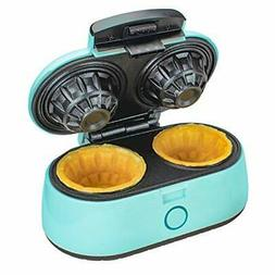 Brentwood TS-1402BL Kitchen Blue Double Waffle Bowl Maker
